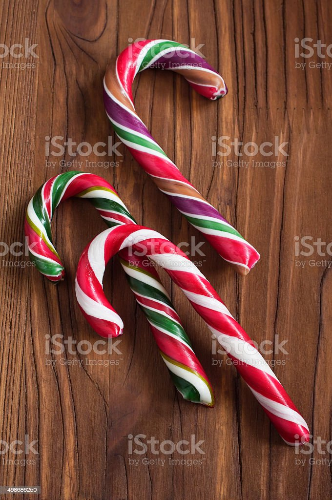 Striped christmas candy stock photo