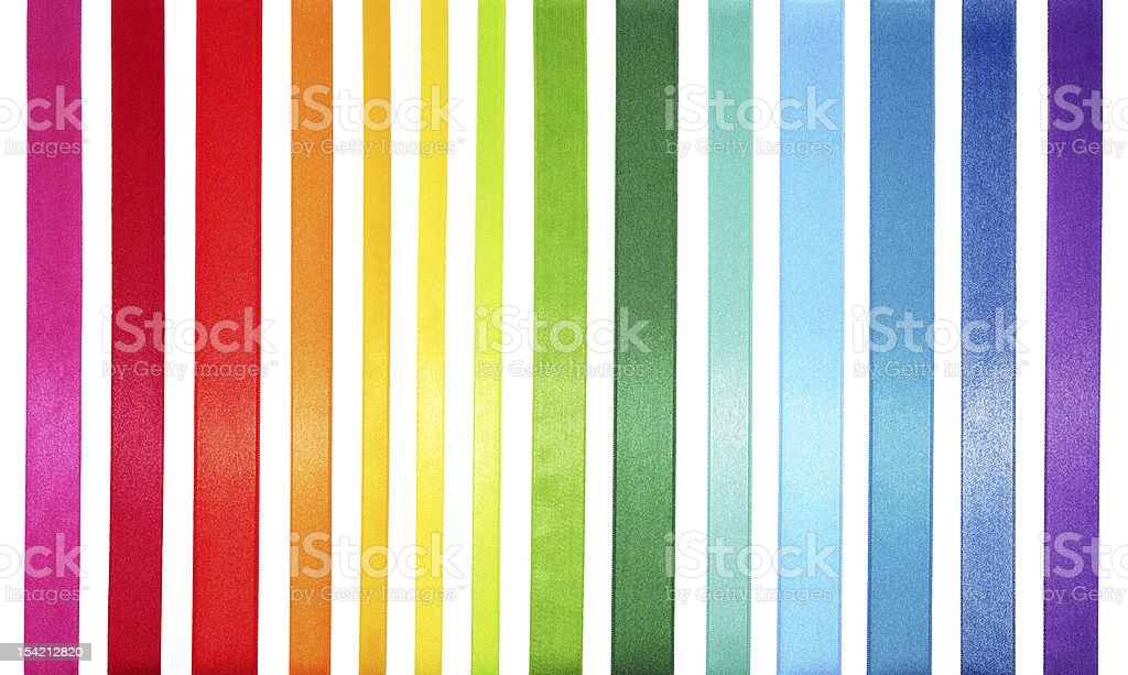 A striped colored spectrum of rainbow colors stock photo