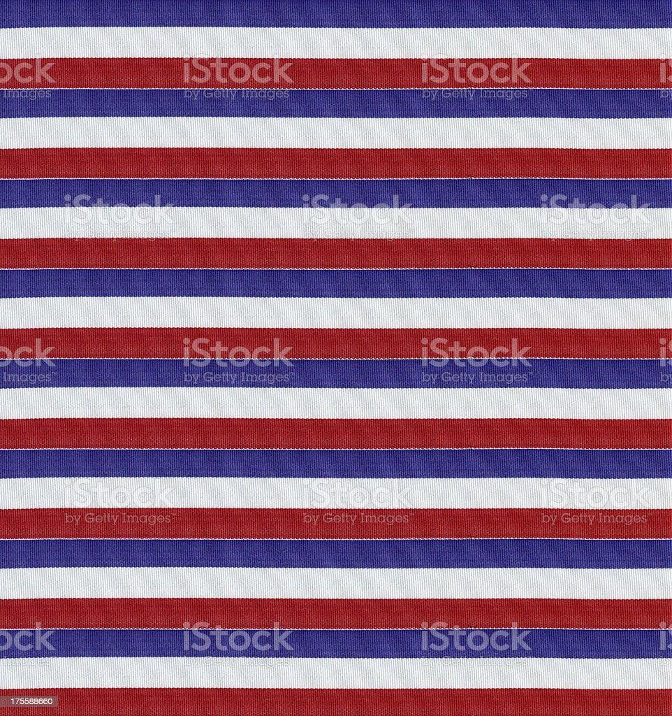 Striped cotton fabric royalty-free stock photo