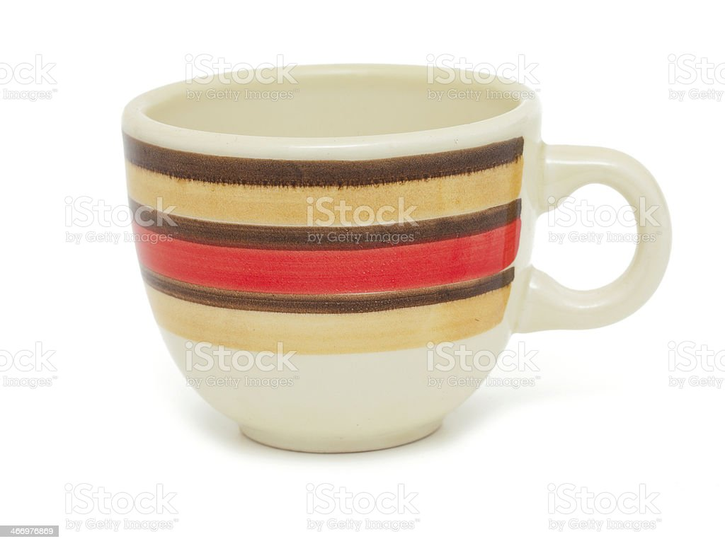 striped cup royalty-free stock photo