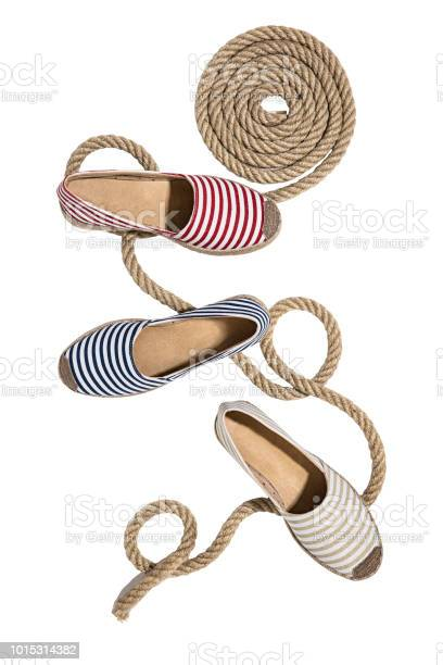 Striped espadrilles isolated on white background picture id1015314382?b=1&k=6&m=1015314382&s=612x612&h=jbro26g9ird5qlscss3totupbcfndplffuf3bjhuvpw=