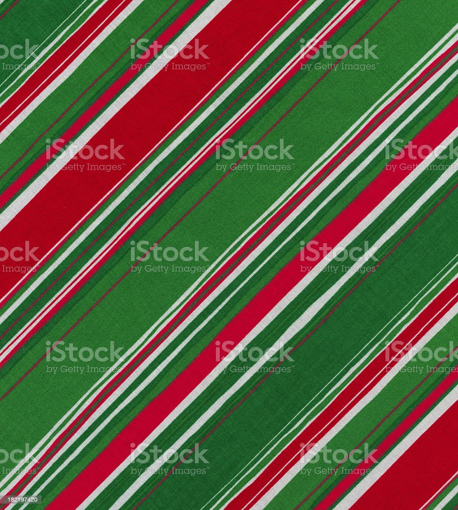 striped fabric in Christmas colors royalty-free stock photo