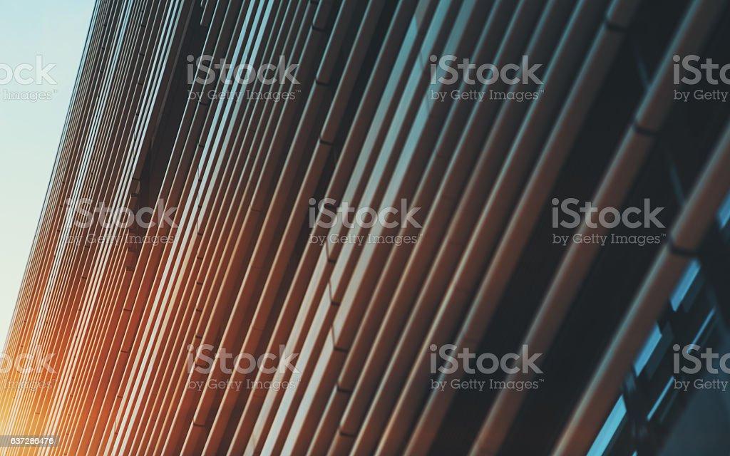 Striped facade of modern building stock photo