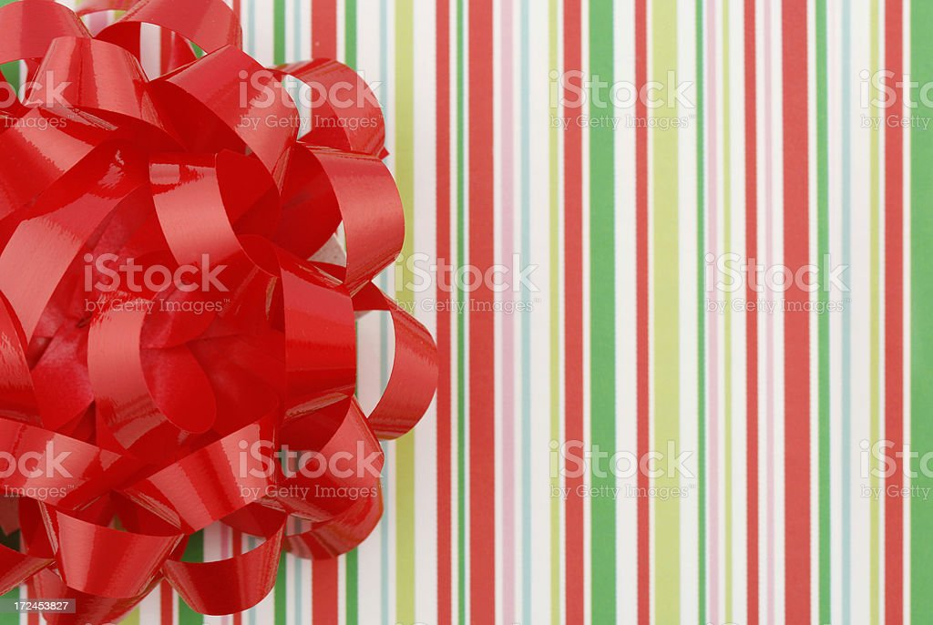 Striped Gift Background royalty-free stock photo