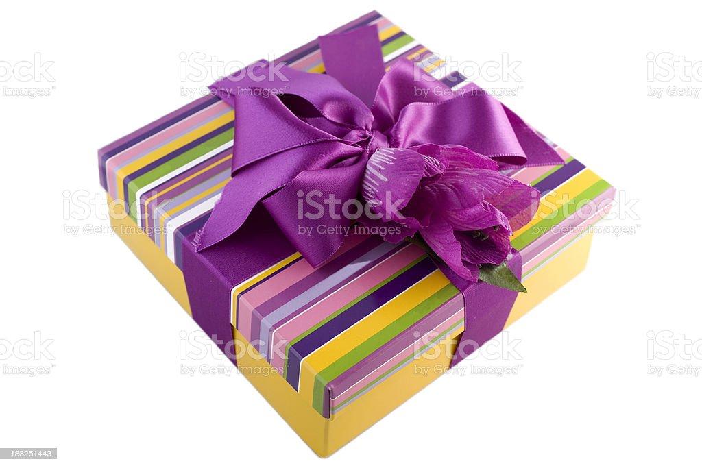 striped gift box royalty-free stock photo