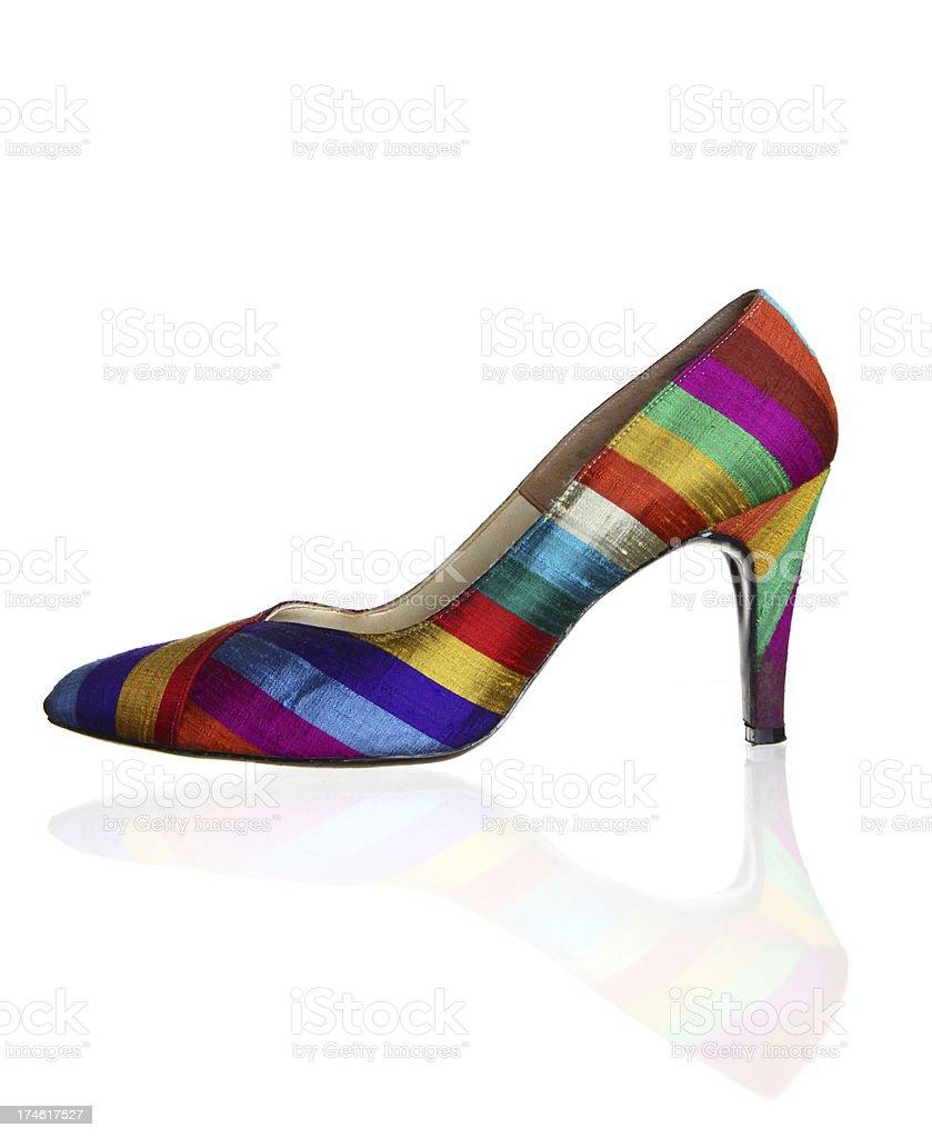 Striped High Heel royalty-free stock photo