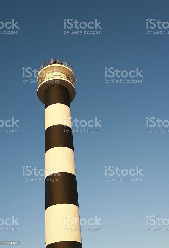 Striped lighthouse royalty-free stock photo