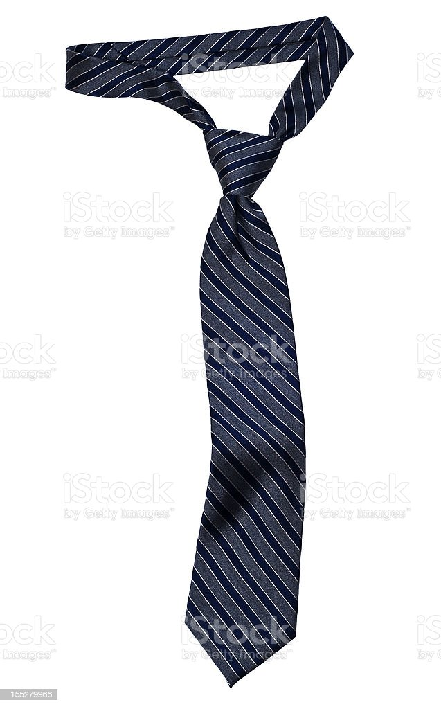 Striped Necktie with Windsor Knot stock photo
