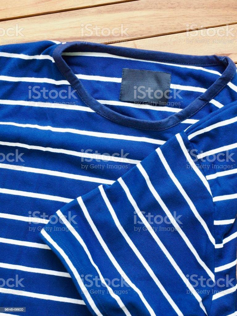 Striped Round Short Sleeve T-shirt royalty-free stock photo