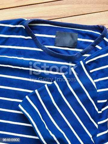 Striped Round Short Sleeve Tshirt Stock Photo & More Pictures of Abstract