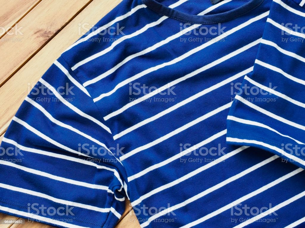 Striped Round Short Sleeve T-shirt royalty-free stock photo