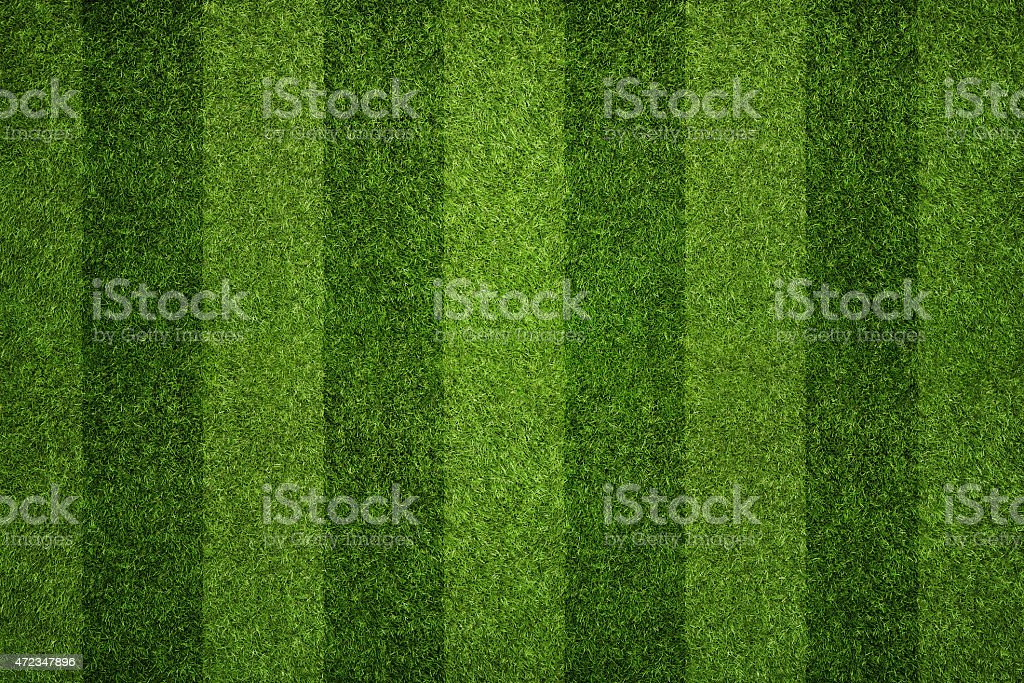 Striped soccer field