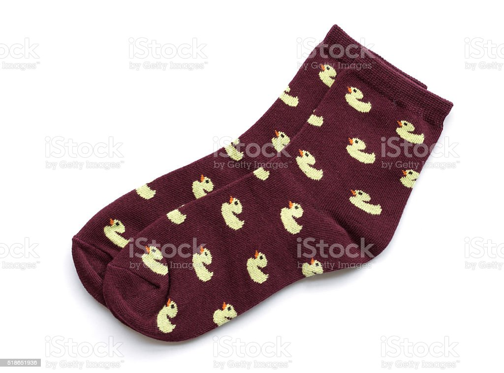 striped socks isolated on white stock photo
