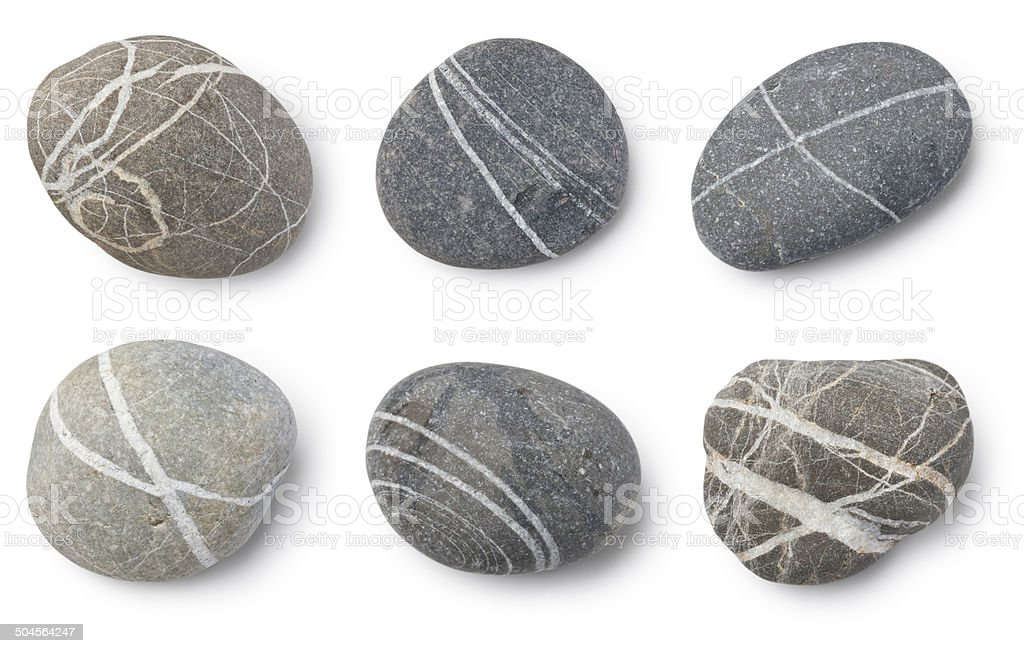 Striped stones stock photo
