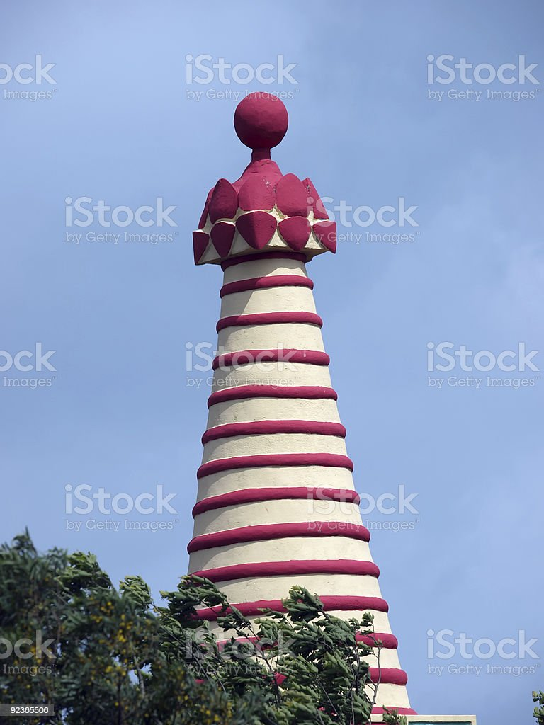 striped tower royalty-free stock photo