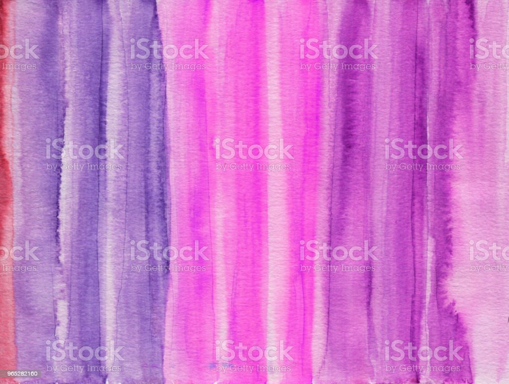 Striped watercolor background with shades of pink stock photo