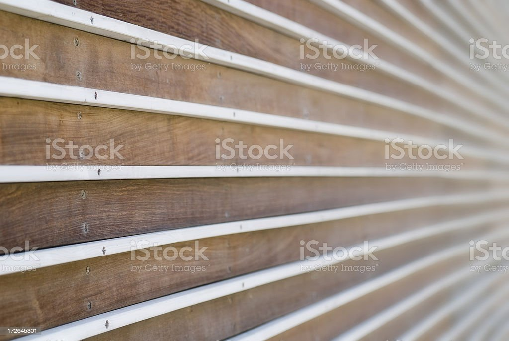 Striped wood wall stock photo