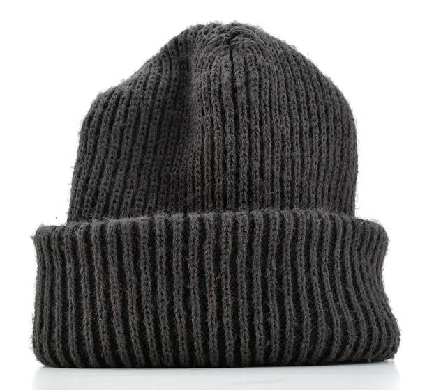 Striped Wool Beanie stock photo