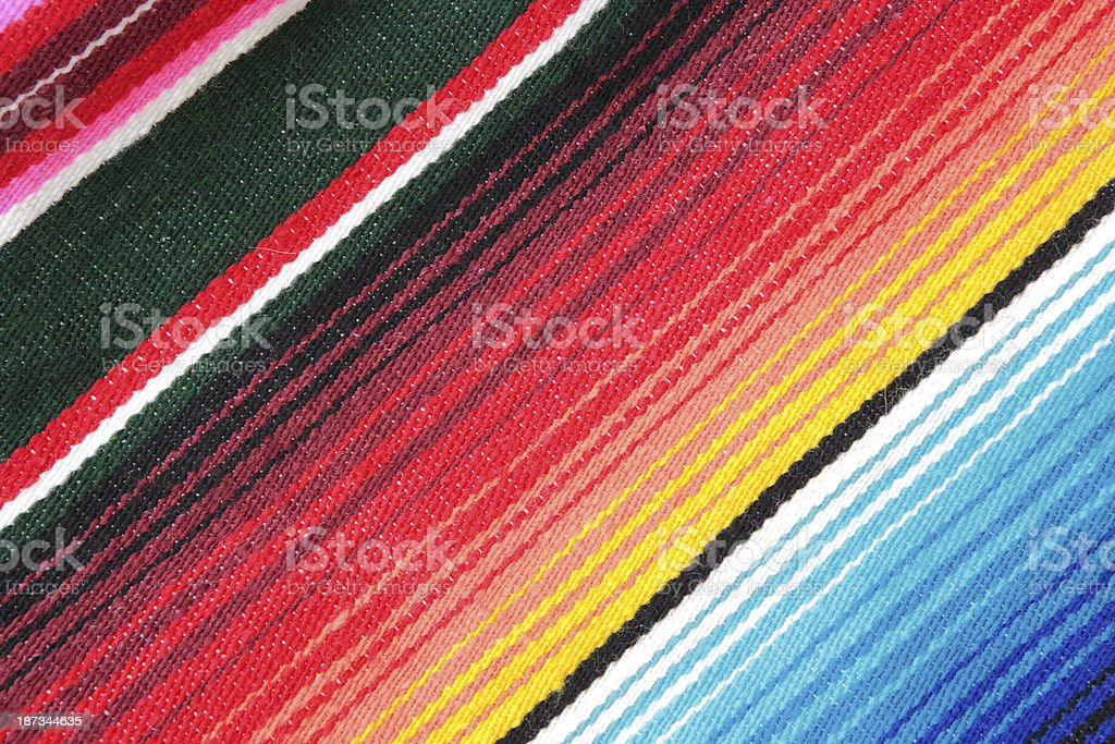 Striped Woven Wool Fabric Textile stock photo