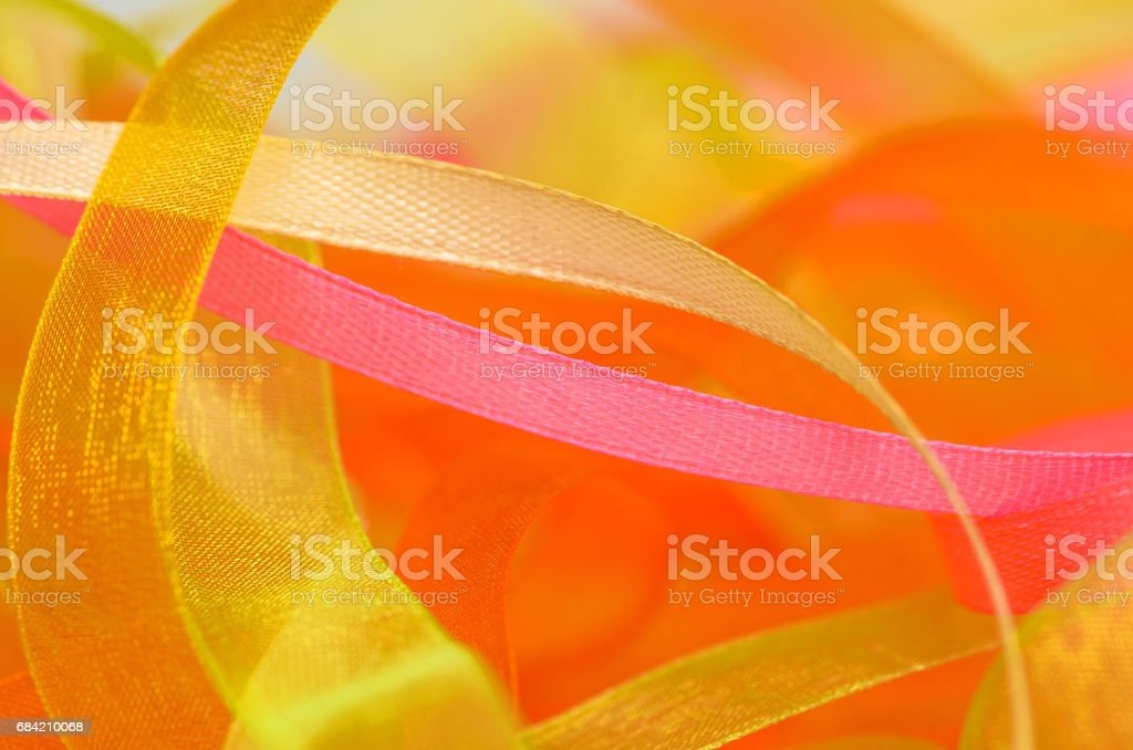 Stripes and ribbons background. Bunch of narrow strips of material royalty-free stock photo