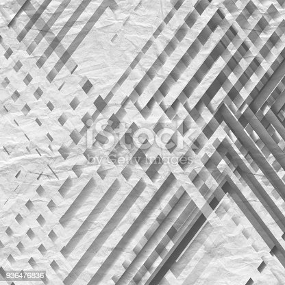 istock Stripes with paper texture. 3d render 936476836