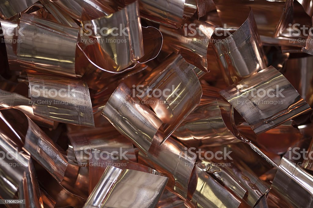 Stripped Copper for Recycling stock photo