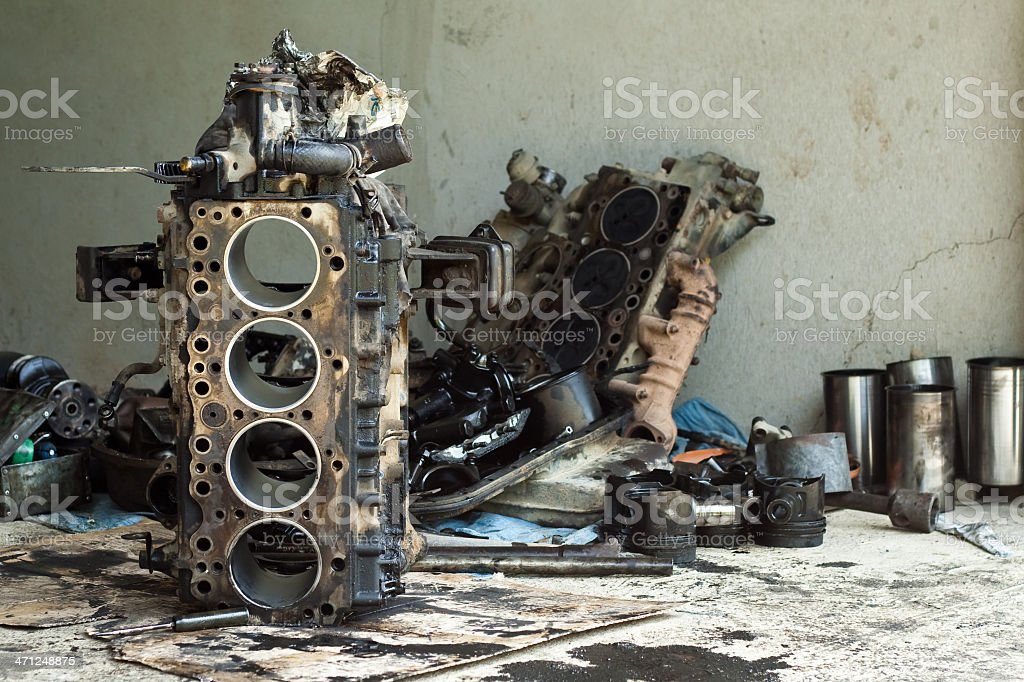 Stripped Engine royalty-free stock photo