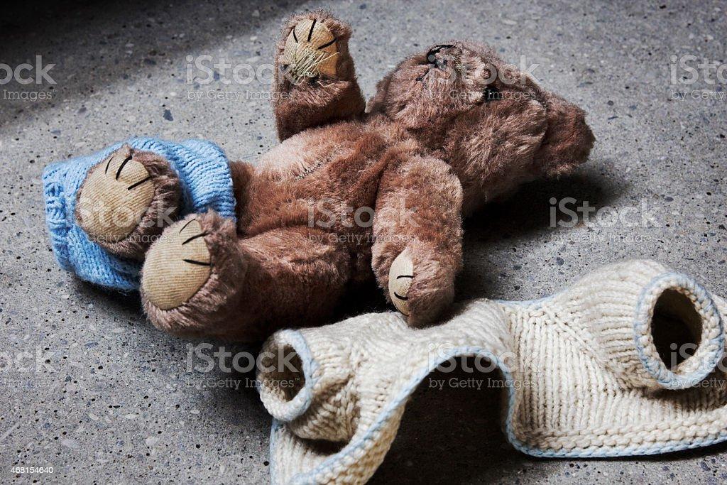 Gestreifter teddy – Foto