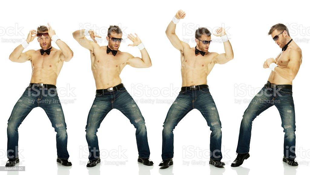 Stripper dancing stock photo