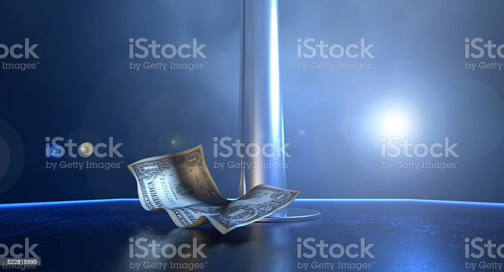Stripper Tips On Stage stock photo