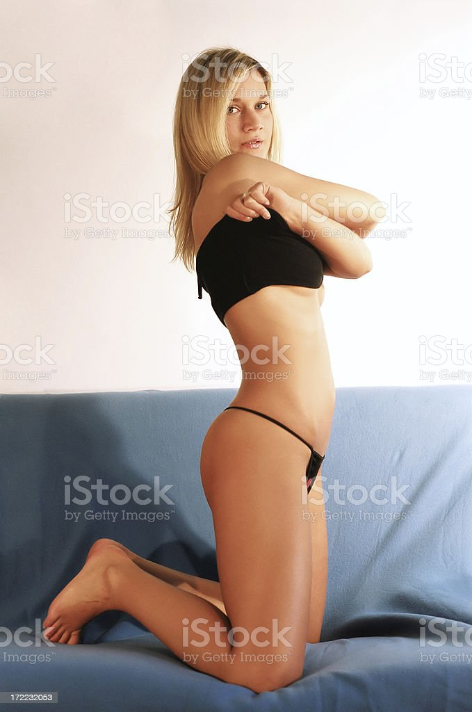 Stripping girl royalty-free stock photo