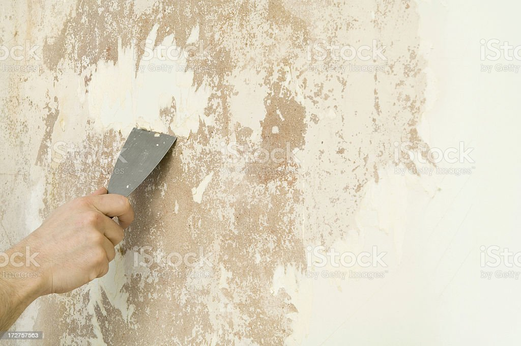 Stripping Wallpaper Royalty Free Stock Photo