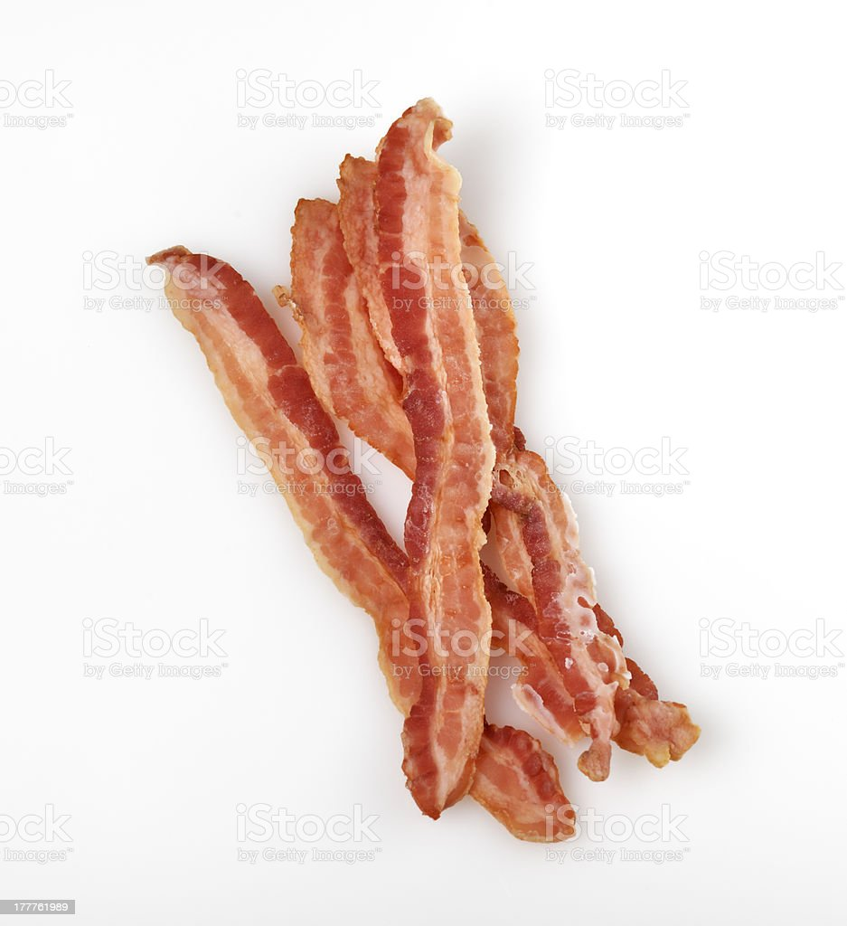 Strips Of Fried Bacon stock photo