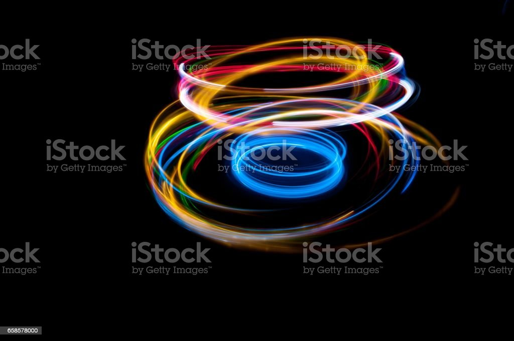 strips of lights stock photo