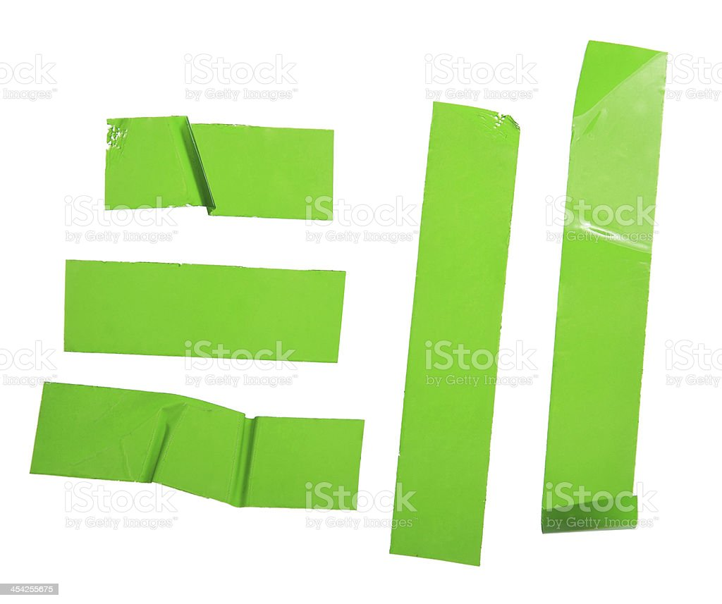 Strips of masking green tape royalty-free stock photo