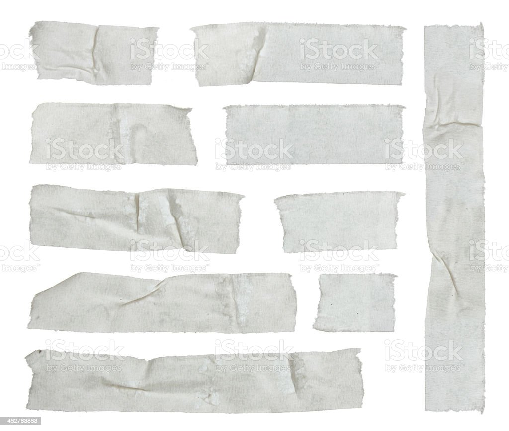 Strips of masking tape stock photo