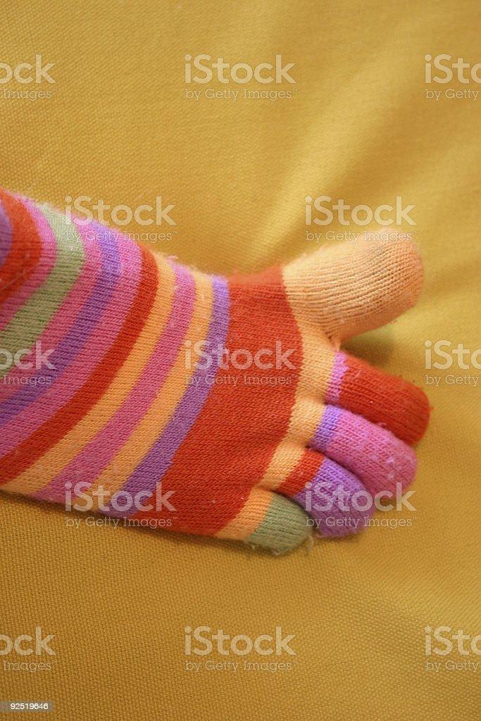 Stripy Foot royalty-free stock photo