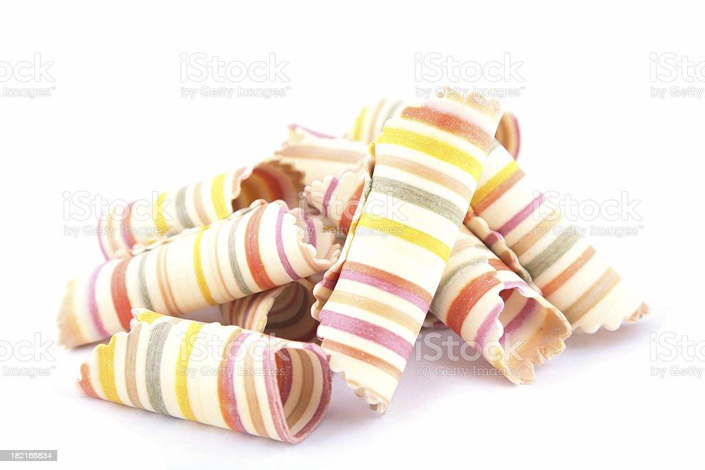 Stripy Pasta royalty-free stock photo