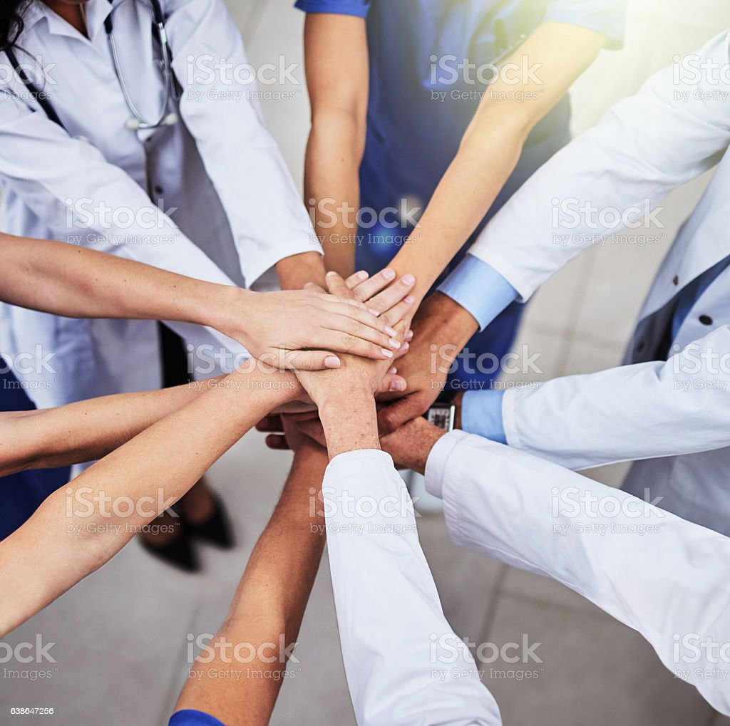 Striving to provide superior healthcare stock photo