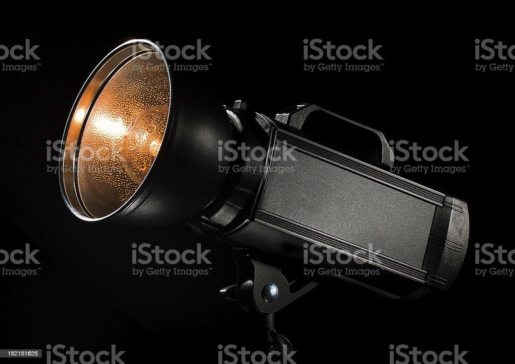 Strobe with black background royalty-free stock photo