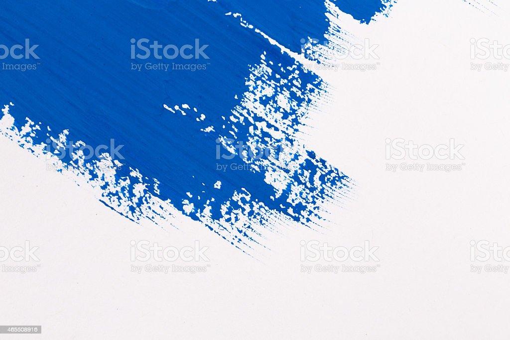 stroke blue paint brush stock photo