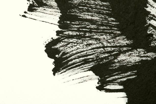 schlaganfall chinesischer tusche farbe pinsel hintergrund - scribble stock-fotos und bilder