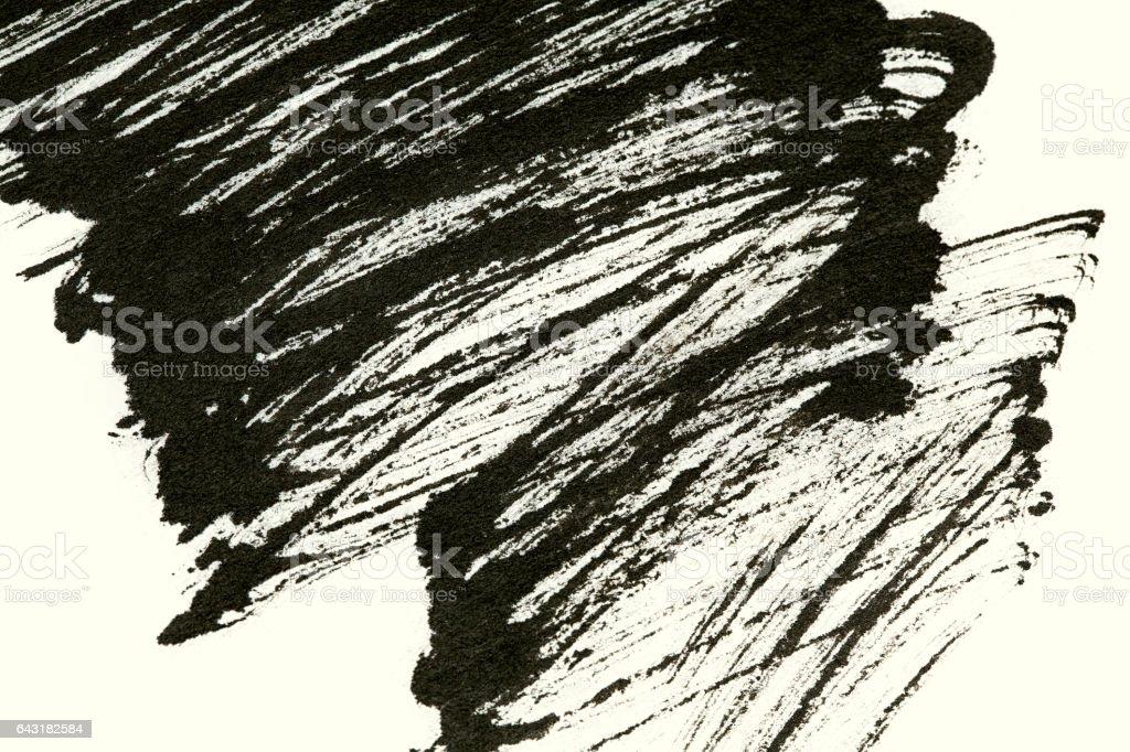 Schlaganfall chinesischer Tusche Farbe Pinsel Hintergrund – Foto