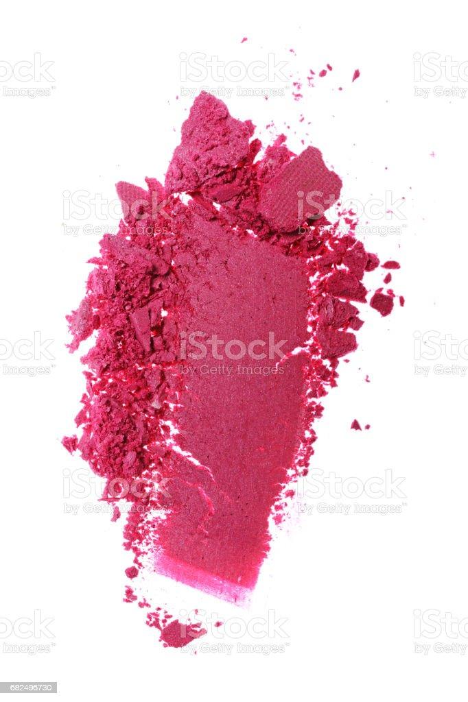 Stroke of crushed shiny pink eyeshadow foto de stock royalty-free