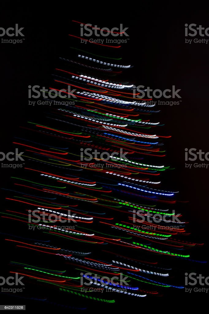 Strokes with colored lights stock photo