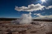 Strokkur geothermal geysir in Iceland