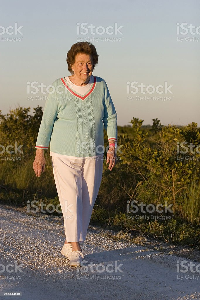 Stroll at sunset royalty-free stock photo