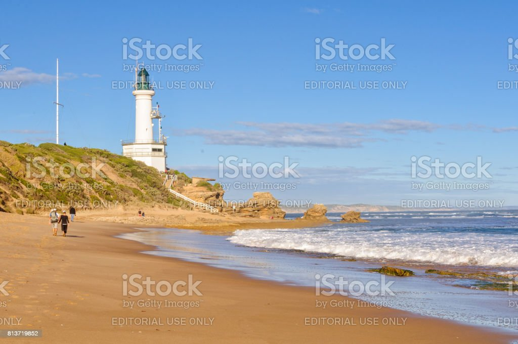 Stroll on the beach - Point Lonsdale stock photo