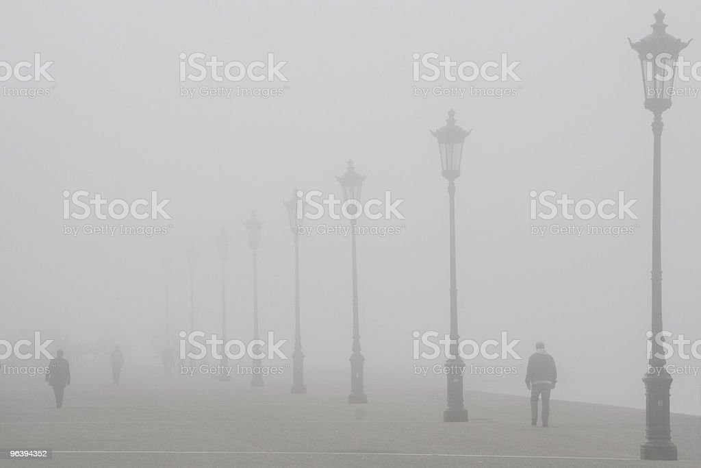 Strolling in the Fog - Royalty-free Adult Stock Photo