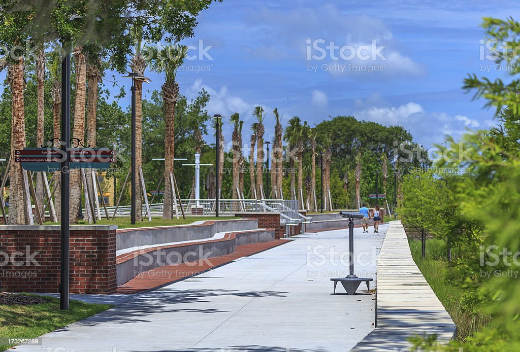 Strolling through the Park in Kissimmee FL stock photo